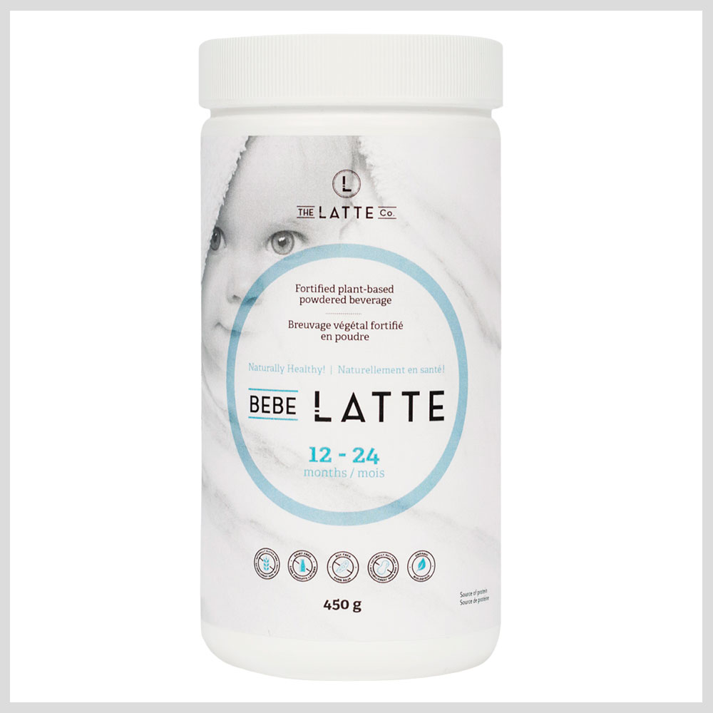 Bebe Latte bottle label