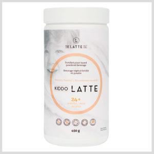 Kiddo Latte bottle label